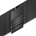 TOUGH-SPLIT™ Stress Relieving Gussets: Head curtain with XT-1000 wear pleats substantially extends its life by providing relief from the tearing action.